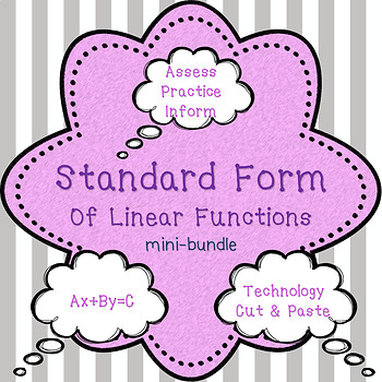 Standard Form of Linear Equations mini bundle