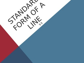 Standard Form of a Line