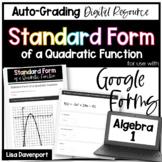 Standard Form of a Quadratic Function- Digital Assignment