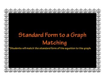 Standard Form to Graph Matching