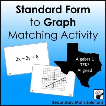 Standard Form to Graph Matching Activity