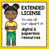 Extended License - Clipart for Digital Resources