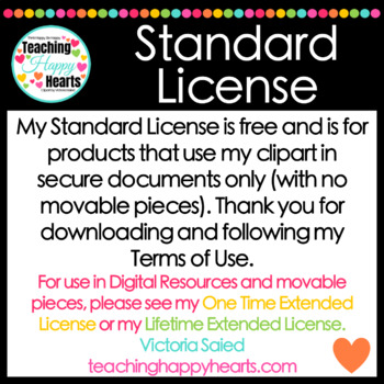 Standard License for Clipart
