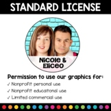 Standard License for Graphics by Nicole and Eliceo