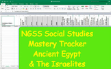 NGSS Standard Mastery Tracker- World History: Ancient Egypt & The Israelites