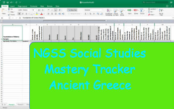 NGSS Standard Mastery Tracker- World History: Ancient Greece