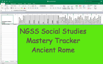 NGSS Standard Mastery Tracker- World History: Ancient Rome