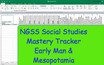 NGSS Standard Mastery Tracker- World History: Early Man & Mesopotamia
