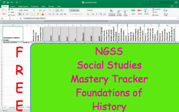 NGSS Standard Mastery Tracker- World History: Foundations of History