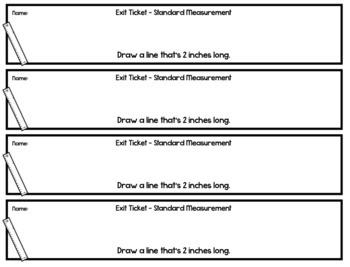 Standard Measurement Exit Tickets - 20 Math Assessments