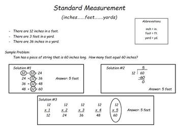 Standard Measurement Game & More: Converting Inches,Feet, & Yards