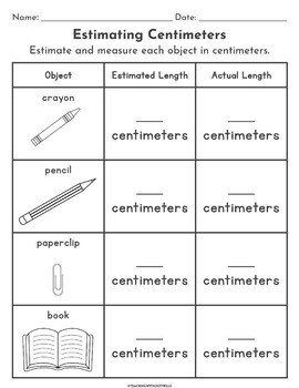 |2nd Grade Common Core| Standard Measurement Activity Packet: Measuring Length