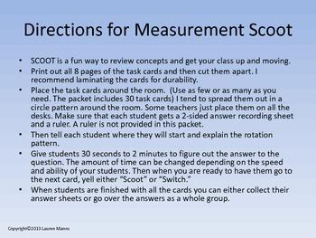 Standard Measurement Scoot