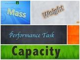 Standard & Metric Measurement Performance Task