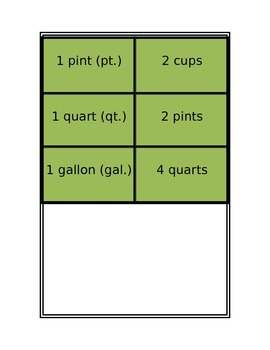 Standard & Metric System Conversions Flash Cards