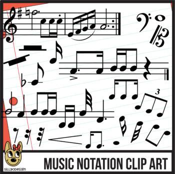Standard Music Notation: Digital Pieces & Clip Art BUNDLE