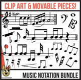 Standard Music Notation: Digital Pieces & Clip Art BUNDLE