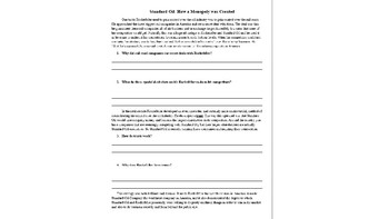 Standard Oil Cartoon Analysis with Guided Reading and Writing Assignment