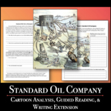 Standard Oil Cartoon Analysis with Guided Reading and Writ