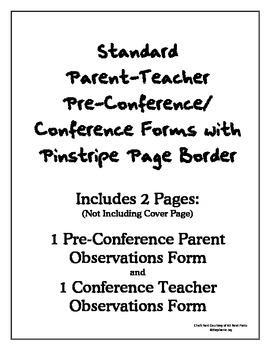 Standard Parent-Teacher Conference Forms with Pinstripe Border