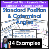 Standard Position and Coterminal Angles PowerPoint/Keynote