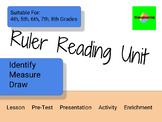Standard Ruler Fractions Measuring Unit