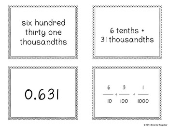 Standard, Unit, Word, and Expanded Notation - 3 Games in 1 - Decimals/Fractions