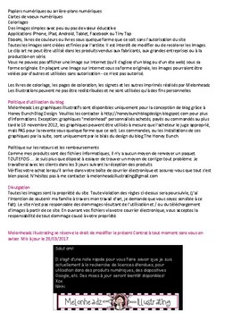 Standard Use Agreement for Melonheadz Illustrating - French Version