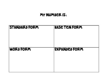 Number Form Mat