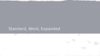 Standard Word Expanded Forms PPP Place Value Review Lesson Plan