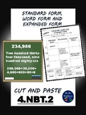 """Standard, Word and Expanded Form """"Cut and Paste"""""""