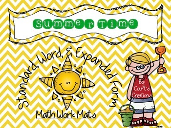 Standard, Word, and Expanded Form Math Work Mats