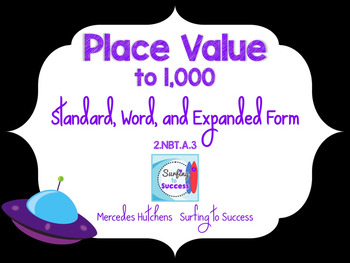 Place Value to a Thousand: Standard, Word, and Expanded Form to 1,000 PowerPoint