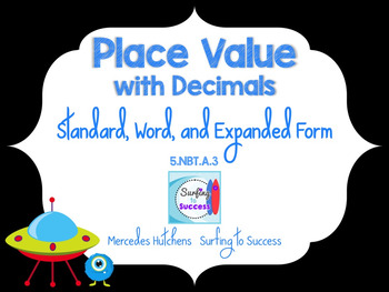 Place Value with Decimals: Standard, Word, and Expanded Form PowerPoint