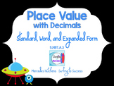 Standard, Word, and Expanded Form with Decimals