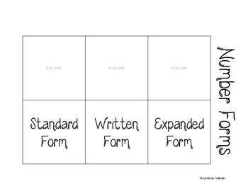 Standard, Written, & Expanded Foldable