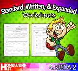 4.NBT.2 - Standard, Written, & Expanded Form Worksheets