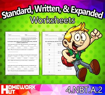 4.NBT.2 - Standard, Written, & Expanded Form Worksheets