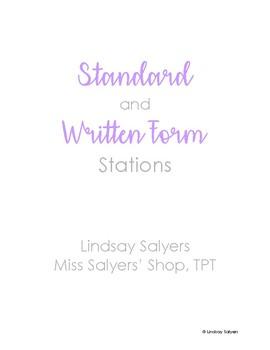 Standard & Written Form Task Cards