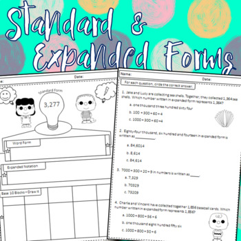 Standard and Expanded Forms