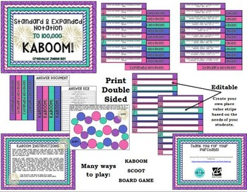 Standard and Expanded Notation KABOOM to 100,000!: TEKS 3.2A & CCSS: 4.NBT.A.2
