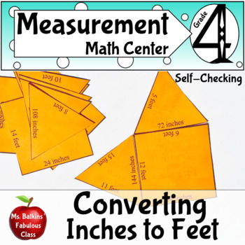 Measurement Standard length Conversion Math Center easy