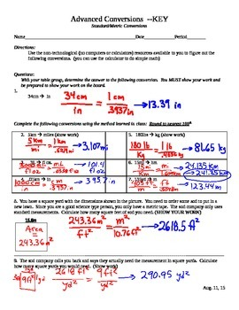 Standard to Metric Conversions