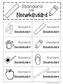 Standard vs. Nonstandard Measurement