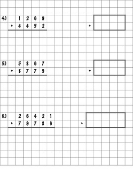 Standard/Traditional Addition Algorithm Practice