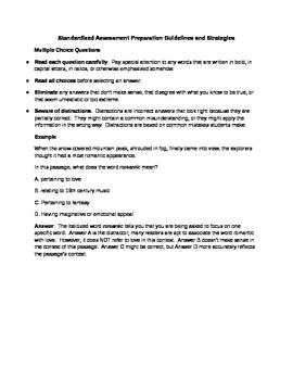 Standardized Assessment Preparation Packet
