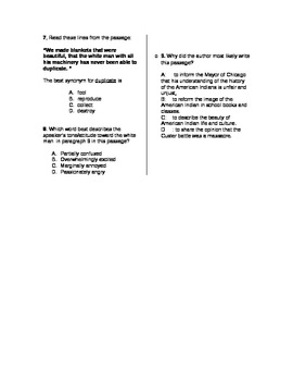 Standardized Reading Test Practice for the Middle Grades: Non-Fiction