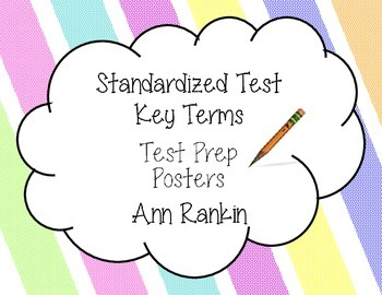 Standardized Test Key Terms Posters