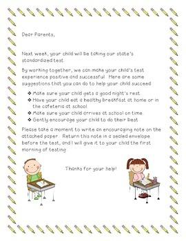 Standardized Test Letter to Parents