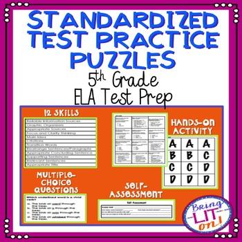 Standardized Test Practice Puzzles - 5th Grade ELA Test Prep - TCAP Aligned
